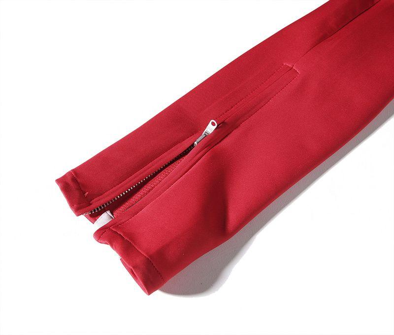 2017 neue seitlichem reißverschluss hosen hip hop angst vor gott mode städtischen clothing red böden justin bieber fog jogger hosen schwarz rot blau