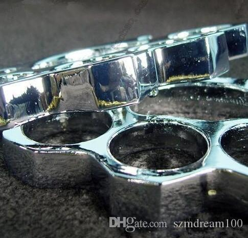 GILDED 13mm STEEL BRASS KNUCKLE DUSTER Gold plating silver self defense tool brass knuckle clutch