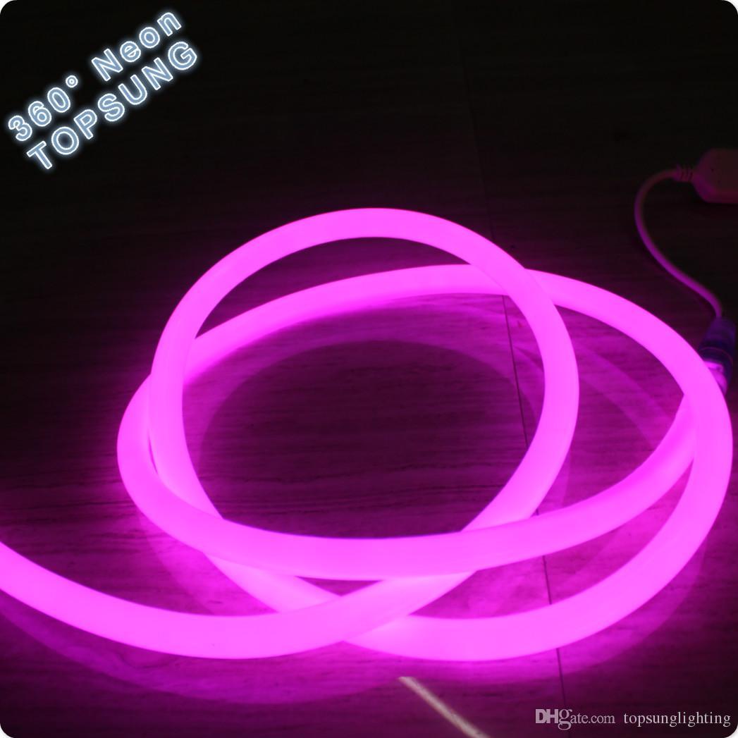 50 M mini 16mm 360 grad flexible neon led weichen rohr seil 2835 SMD rosa farbe multi spannung für dekoration