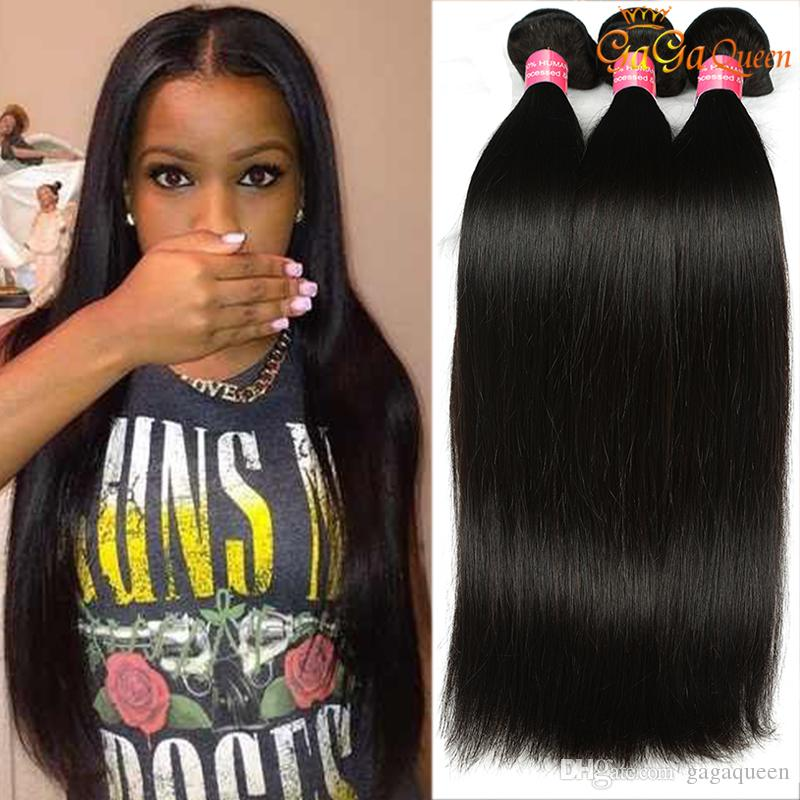 Malaysian Virgin Hair Straight Unprocessed Human Hair Extensions 3