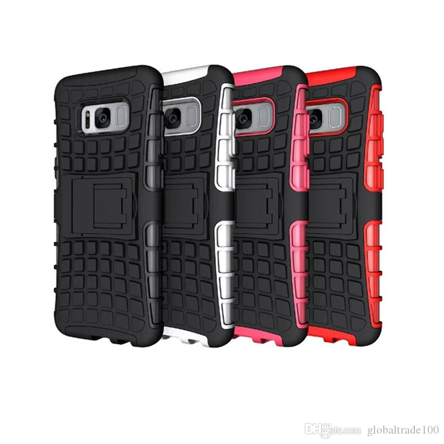 various colors 7e3b8 8f24d Hybrid Kickstand Rubber Cases For Samsung Galaxy S8 Plus S7 S6 edge Note 4  5 Heavy Duty Robot TPU + PC Cover Case