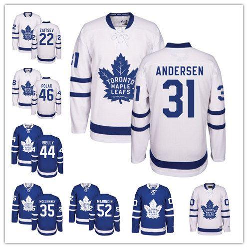 the latest 9cc4a d85c8 Toronto Maple Leafs Jersey Curtis McElhinney Frederik Andersen Nikita  Zaitsev Morgan Rielly Roman Polak Martin Marincin