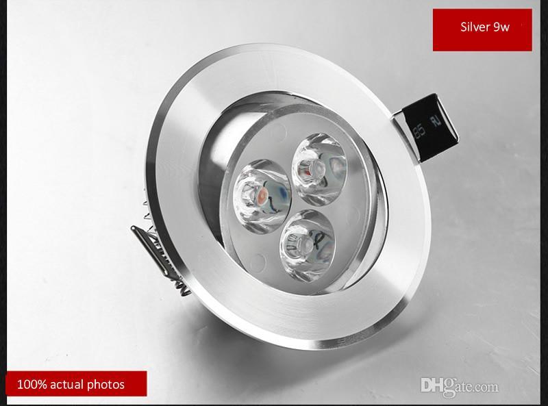 Yeni 9 w Led Downlight aşağı led ışık Alüminyum malzeme AC85-265v veya 12 v tavan lambası Ev Aydınlatma Dekorasyon Için CE UL SAA