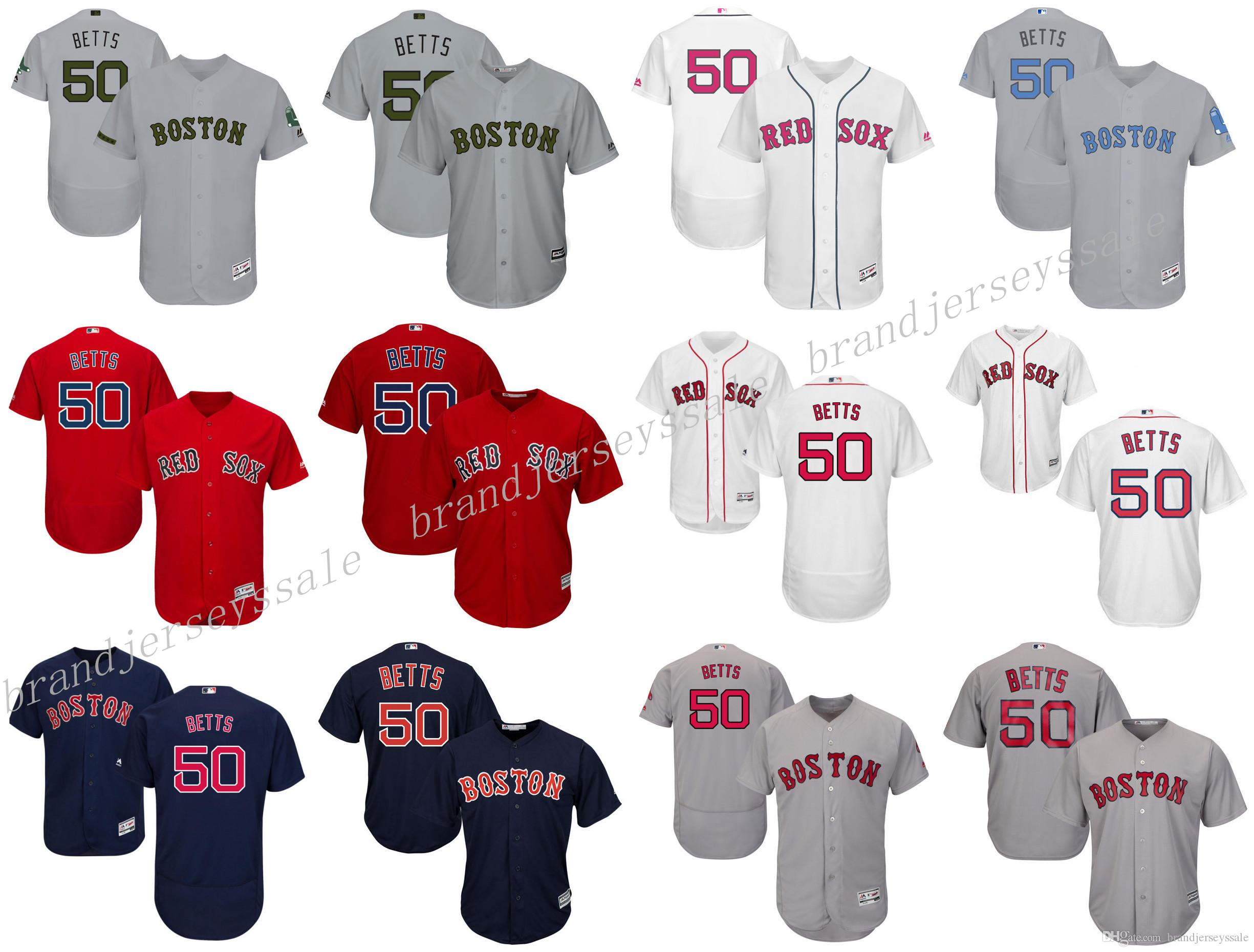 fdfa25b2c92 ... best price jersey view number 2018 mens boston red sox 50 mookie betts  majestic white mothers