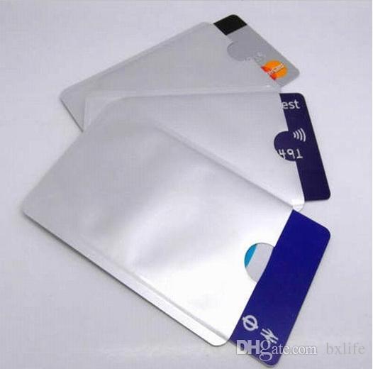 Aluminum Anti RFID Blocking Sleeve Credit Card Holder