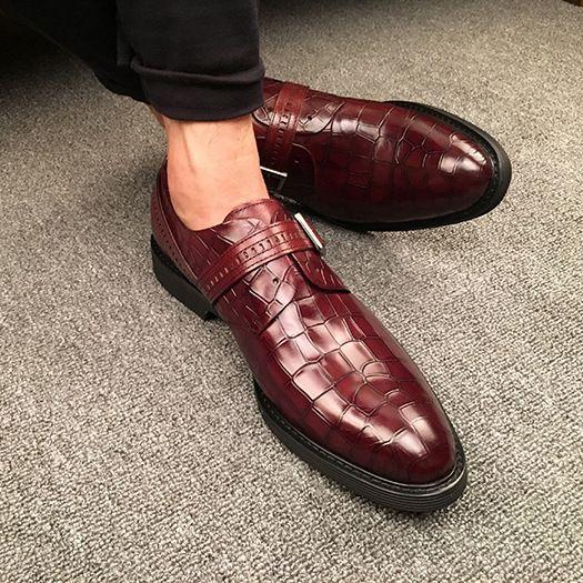 ac28e42aa497e Compre Zapatos De Vestir De Hombre Zapatos De Monje Zapatos Artesanales  Personalizados Mocasines De Cuero Genuino De Negocios A  78.4 Del  Manager617 ...