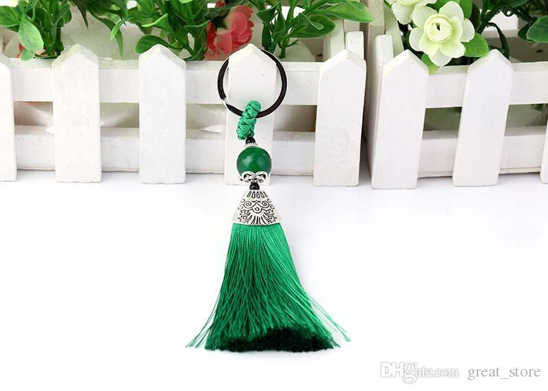 Good A++ Fine tassel key chain bag car pendant wild jewelry KR251 Keychains a