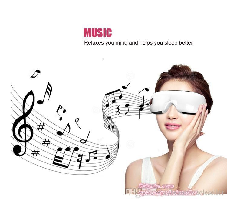 2017 Venda Quente de Pressão de Ar Massager Do Olho Com Vibração de Música Sem Fio Bluetooth Massagem Terapia de Aquecimento Massagem Oftalmológica Dispositivo de Cuidados Com Os Olhos Saúde Do Olho