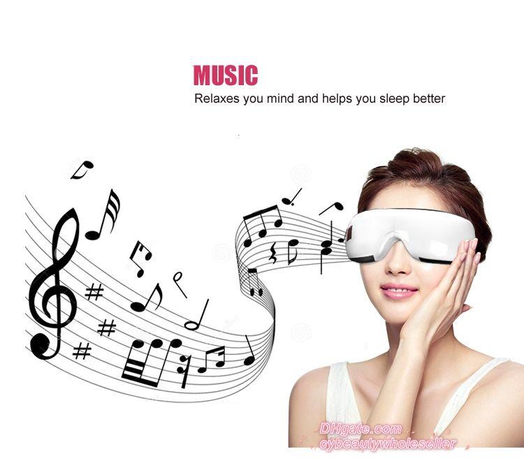 Новый электрический давление воздуха глаз массажер с музыкальными функциями беспроводной вибрации DHL бесплатная доставка