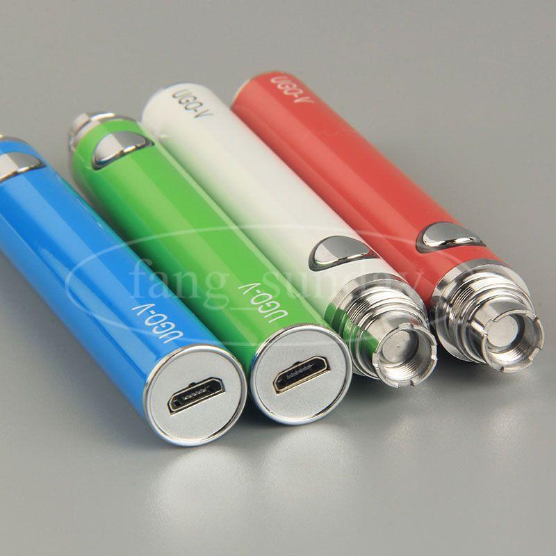 UGO V eGo USB Durchgangsbatterie Bottom Charge 650mAh 900mAh EVOD Vape Pens Mod Ladegerät für CE4 CE5 CE6 E Zigaretten