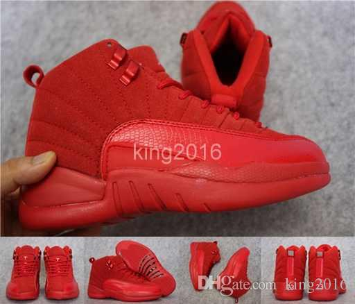 2017 New Mens 12 XII Red Suede Basketball Shoes For Men Women High Quality  12s Sports Sneakers Trainers Shoes Size 36 47 Cheap Sneakers Basketball  Shoes For ... 1d57c8482