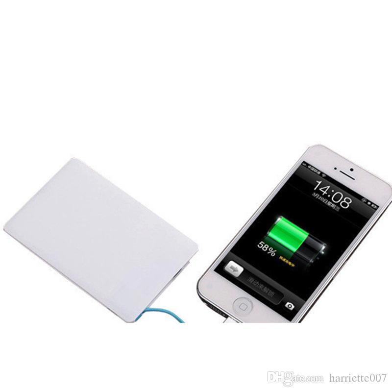 Banco externo ultra magro do banco do poder da bateria do banco das energias de emergência 2600mAh banco externo do poder do banco da bateria para telefones celulares espertos A53 do andróide