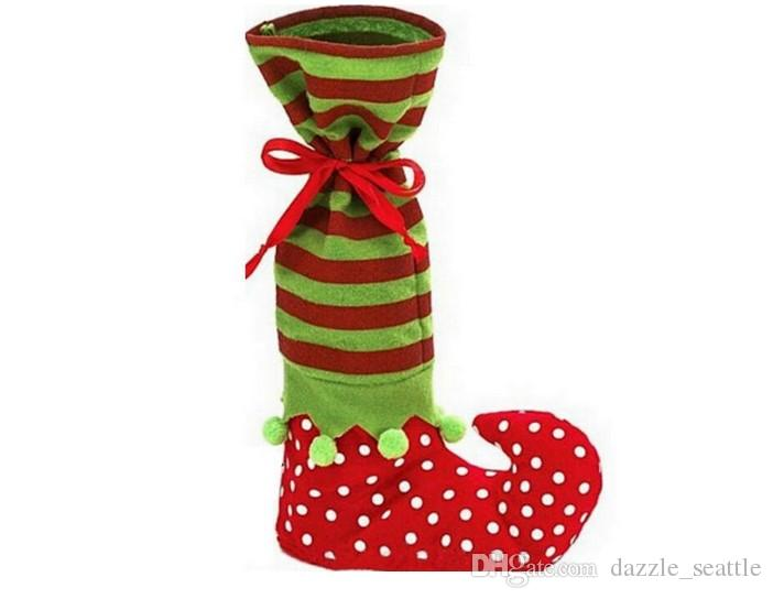 Wool Merry Christmas Stocking Gift Bags Christmas Decoration Spirits Boots Candy Socks Bags Xmas Boots Stocking For Kids Children