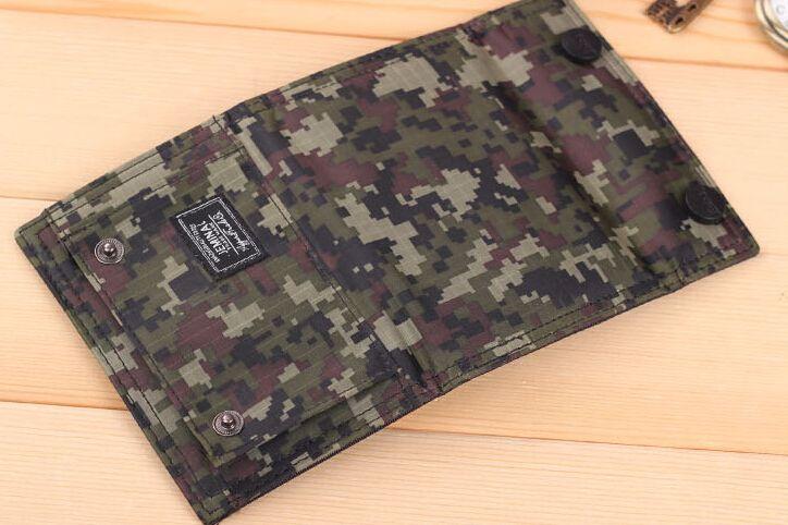 Öğrencilerin spor moda ve eğlence kamuflaj kanvas çanta cüzdan kadın Kore kısa cüzdan erkekler gelgit çanta