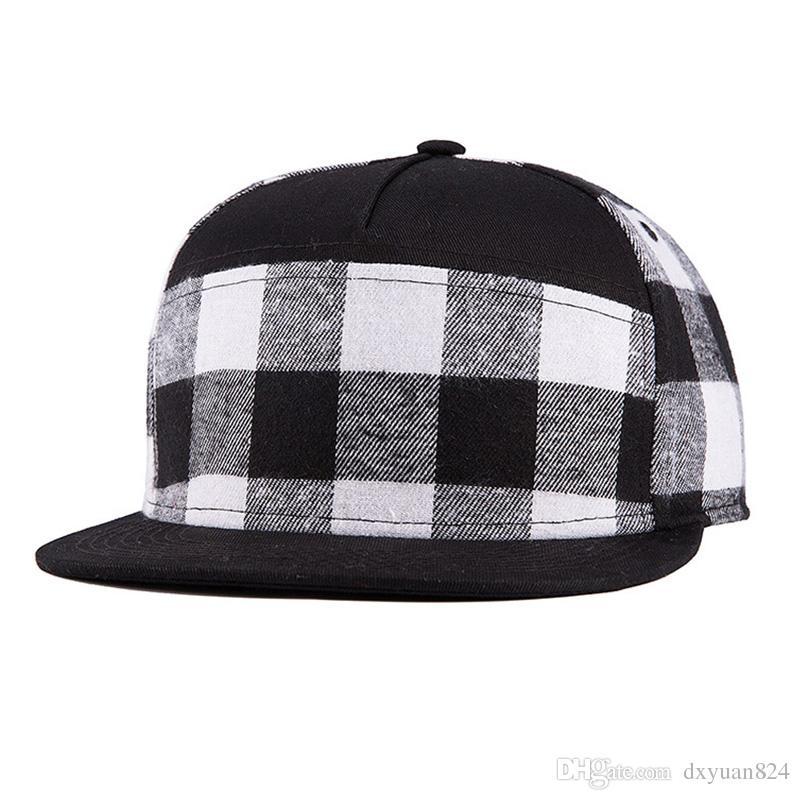 Klasik Bak Erkekler Katı Düz Fatura Hip Hop Şapka Snapback Ağız Ayarlanabilir Beyzbol Şapkası Unisex Moda Şerit Tasarım