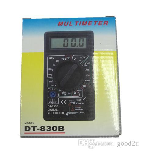 Black DT830D Digital Multimeter with Buzzer Voltage Ampere Meter Test Probe DC AC voltage LCD Multitester Multimetro