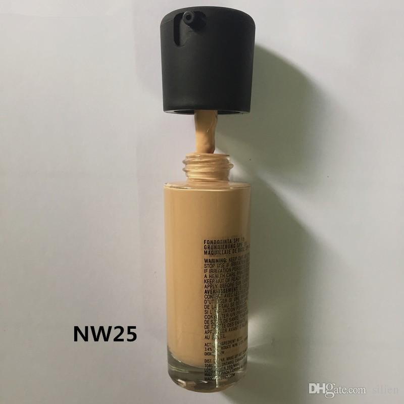 الجملة المكياج مؤسسة 18 الألوان المعدنية ترطيب الأساس السائل الجديدة المخفي ماكياج SPF 15 شحن مجاني