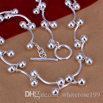 Wholesale  - 小売価格最低価格クリスマスプレゼント、送料無料、新しい925シルバーファッションネックレスN136