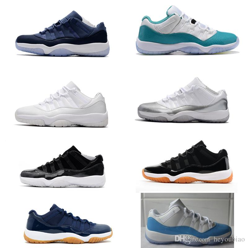 3f80e77d5f7 Cheap Heiress 11s Low PRM HC Frost White Blue Moon Basketball Shoes for Men  And Women Barcons Outdoor Athletic Sneaker University Blue Navy Gum