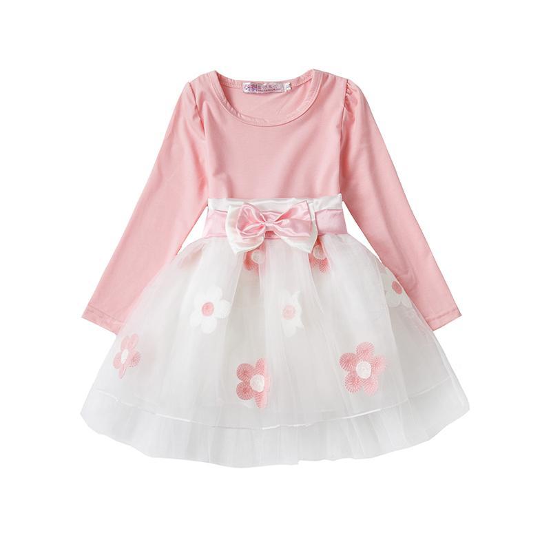 Compre Al Por Mayor Flores Recién Nacidas Baby Girl Dress Boda 1 Año ...