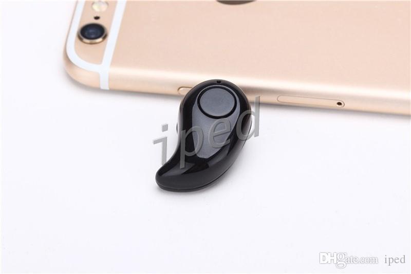 S530 Mini Bluetooth Écouteur Iphone 7 Stéréo Lumière Sans fil Invisible Casque Super Casque Musique répondre à appel avec boîte en cristal pas cher
