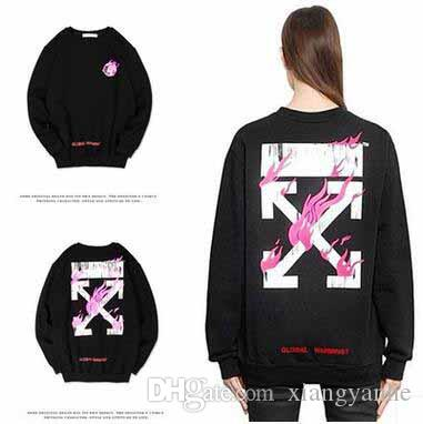 2018 2017 newest off white global warming pullover sweatshirts 2018 2017 newest off white global warming pullover sweatshirts unisex fleece crew neck fire earth black hoodies brand mens clothing from xiangyanhe gumiabroncs Image collections