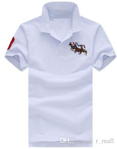 Compre Marca Verão Estilo Homens Gola Polo Esporte Roupas Mens Polos  Europeus Casuais Camisas De Negócios De Algodão   120 De R mall b51d70f583f94