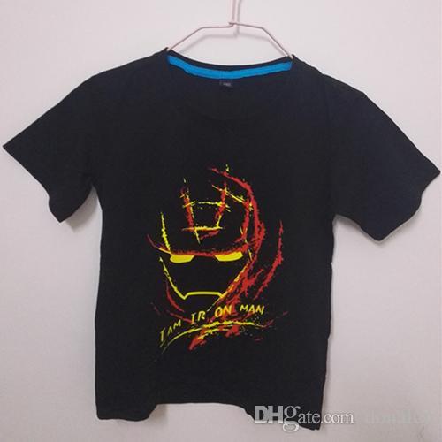 2017 Summer Baby Boys Sweatshirts short Sleeve Batman Children T shirts Cotton Girls Tops 2017 Kids Infant Tees Clothes Ironmen hero