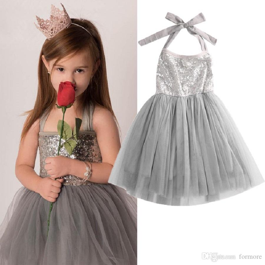 48b6554ff93a3 2019 BABY Girls Party Dress Toddler Birthday Sundress Kids Boutique Clothing  Infant Princess Dresses Tutu Jersey Children Ball Gown Formal Outfit From  ...