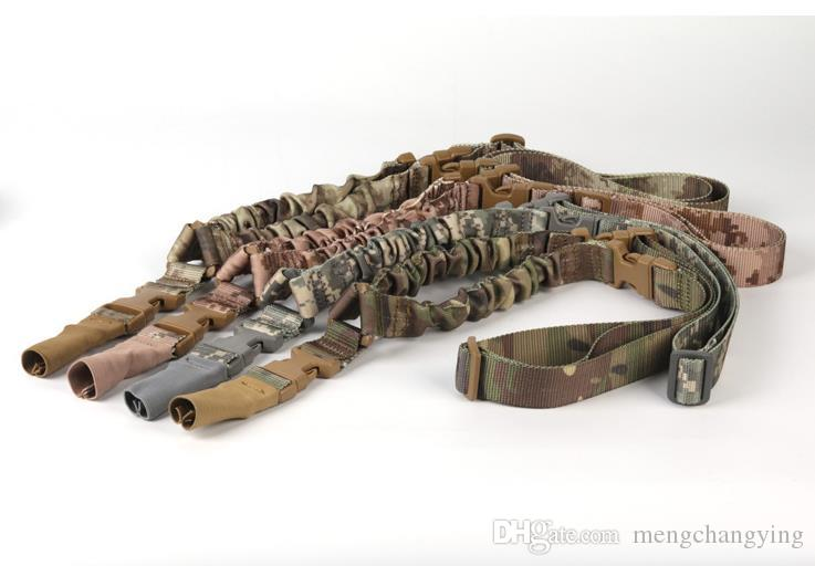 Imbracatura tattica americana Un singolo punto Sling Bungee regolabile Gun Gun Sistema di cinghie Tactical CS Single Point Gun Sling