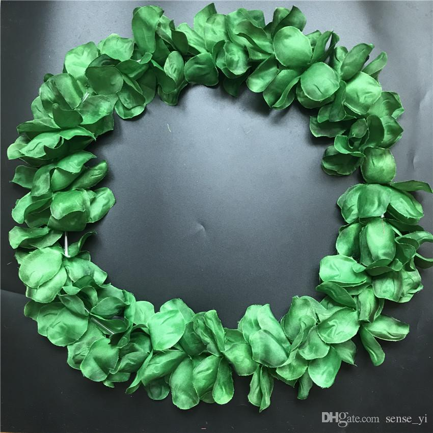 2019 Dark Green Hawaiian Leis Jumbo Necklaces Festive Party Garland