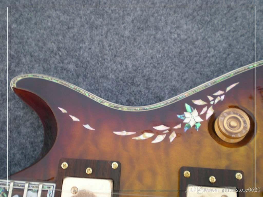 Мозаика раковины ссылается к плите и кораблю EMS поверхности пульсации воды тела mahogany верхней части электрической гитары OEM тела