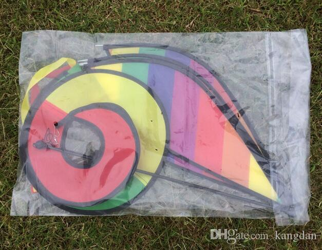 Outdoor stripe Rainbow wind vane hanging Air Balloon colorful Windsock Festival decoration Wind Spinner toy Rotating windmill