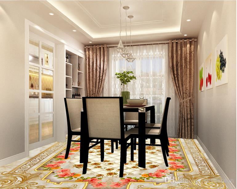 3 차원 층 벽지 럭셔리 골든 로즈 대리석 소프트 가방 벽지 거실을위한 3D 입체 3d 바닥 벽화 벽지를 사용자 정의