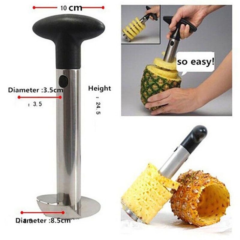 الفولاذ المقاوم للصدأ الأناناس مقشرة للمطبخ اكسسوارات الأناناس القطاعة الفاكهة سكين القاطع أدوات المطبخ والطبخ في الأسهم WX-C43