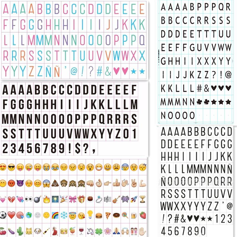 Discount Wholesale Letters Of A4a5 Light Box Black And Color Emoji