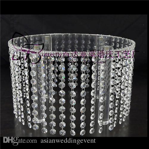 "Crystal Wedding Cake Stand 16"" Round Chandelier Cake Cupcake Stands For Wedding Centerpiece"