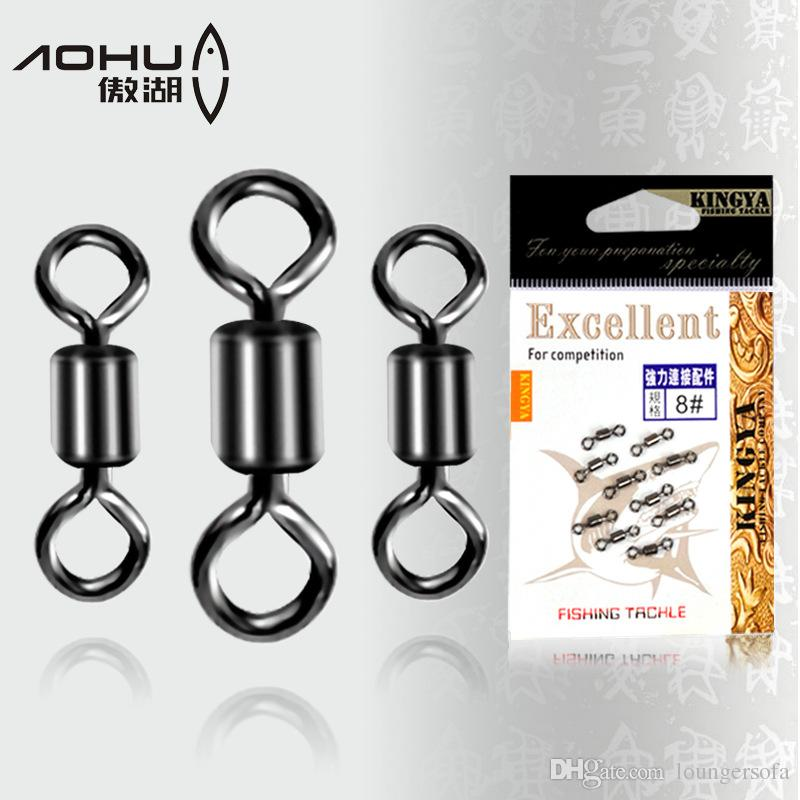 Fishing Tackle Connector Ring Stainless Steel Ball Bearing Swivel With Safety Solid Rolling Rings Fishhooks Gear Accessories Portable 1gf F1