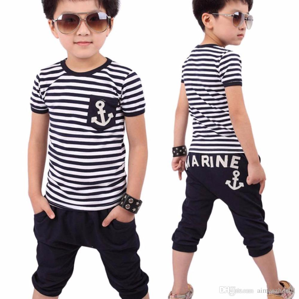 31df25bf15ea 2019 New Toddler Boys Baby Summer Clothing Sets Children Tracksuit ...