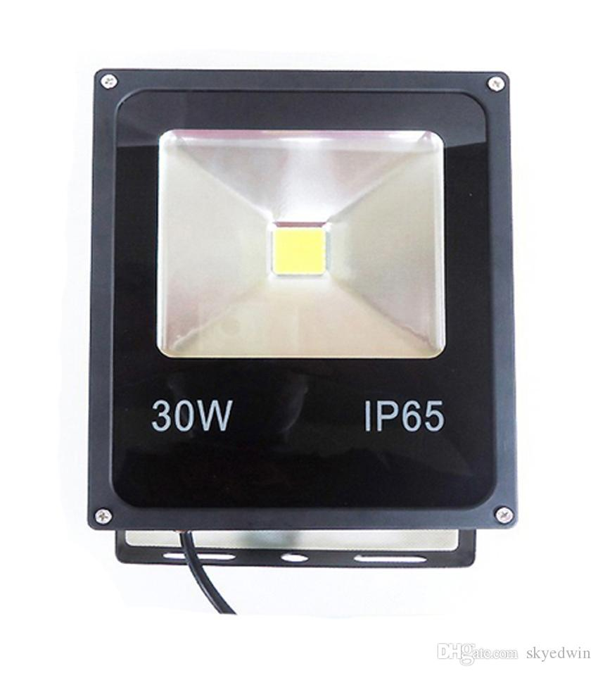 AC85-265V 12V LED Flood Light LED Floodlight 30W DC12V 24V 100-110LM/W High Lumen Super Bright Thick Housing
