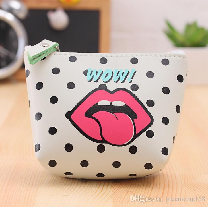 Modern Girls Cute Fashion Waterproof Coin Purse Wallet Bag Change Pouch Key Holder DHL free ship