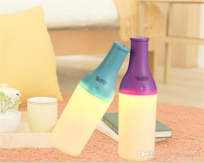 Cool Bottle USB Mini Humidifier Led Night Light Air Purifier Essential Oil Diffuser Aroma Mist Maker Home Car Humidifier G053