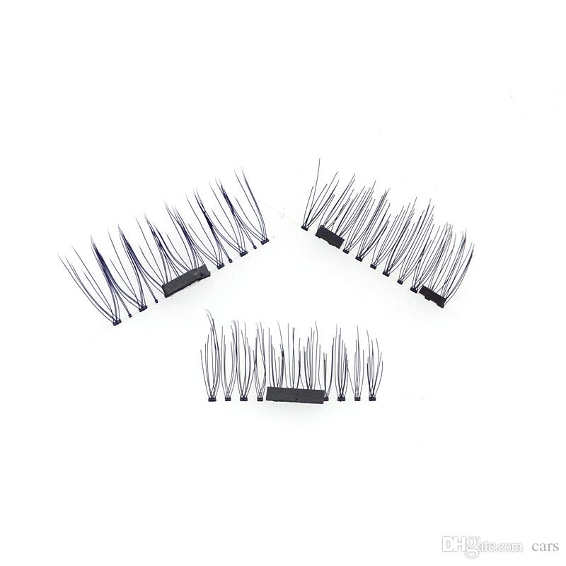 In stock 3D Magnetic False Eyelashes Extension Magnetic Eyelashes Makeup Soft Hair Magnetic Fake Eyelashes with retail packaging DHL