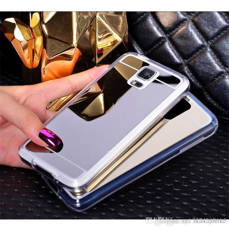 separation shoes e7e51 73caf New Clear Cover For Samsung Galaxy S6 Edge /S6 Case Mirror case  Aluminum+TPU Back Phone cover for samsung galaxy s 6 accessories
