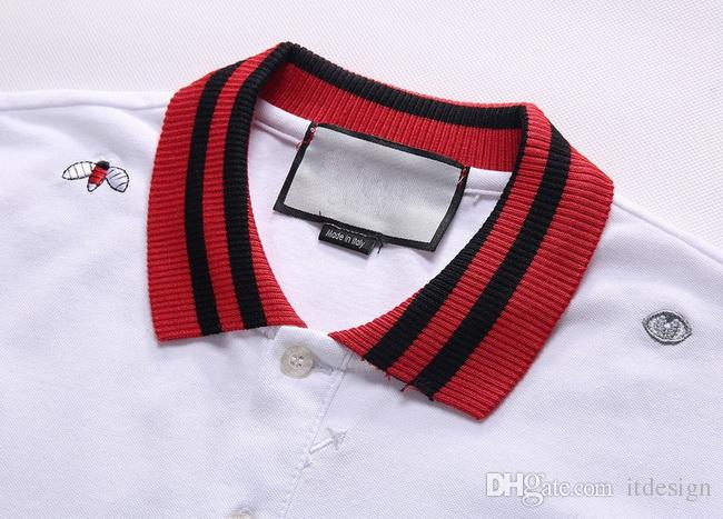 Плюс 3XL размер мульти вышивка рубашки поло человек мода дизайн ребристые рукава Сплит подол стрейч Поло топ мужской
