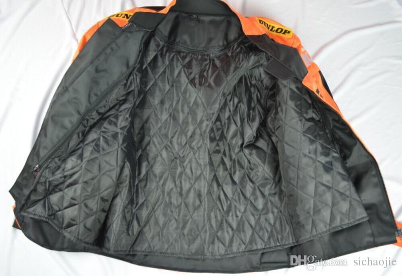 Nueva ktm invierno cálido oxford motocicleta off-road chaqueta chaquetas de carreras ropa masculina off-road chaqueta a prueba de viento tiene protección j-1