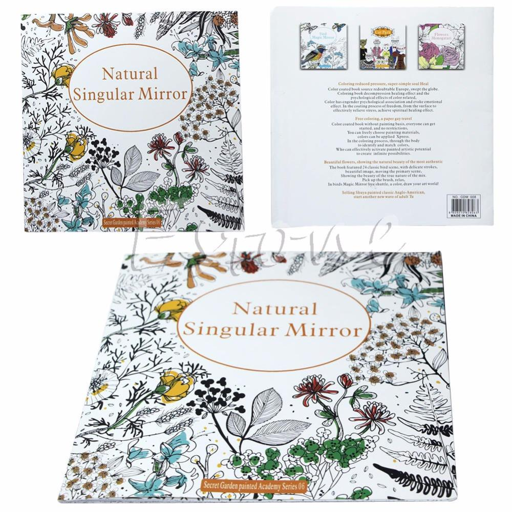 Secret Garden Series Natural Singular Mirror Coloring Book For Adults Kids Gift Colouring Free Printable Books From Asgardia9 45