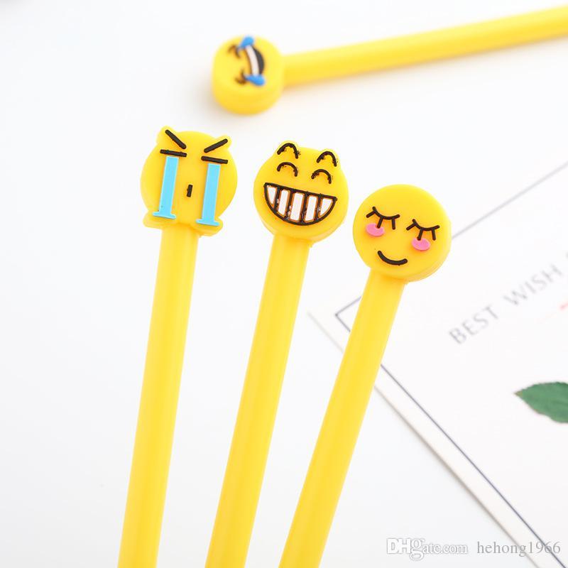Gülen Yüz Nötr Kalemler Ofis Ve Sınıf Malzemeleri Sabit Sevimli QQ Emoji Kalem Çalışması Temel Makaleler 0 58yn C R