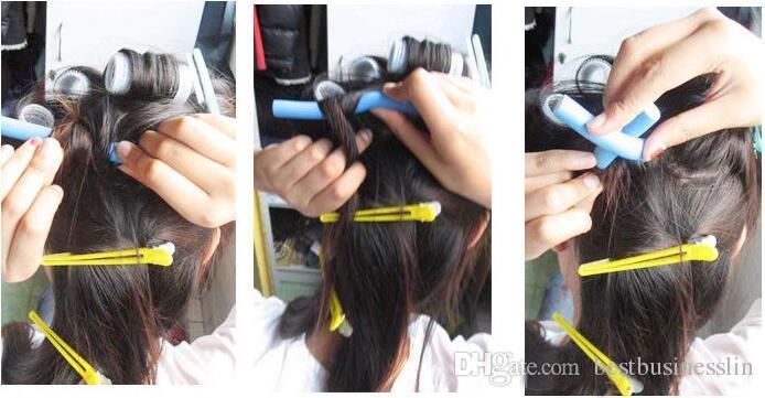 10 قطعة / المجموعة 7 حجم اختيار الشباك العصا مجموعة الشعر الشباك الإسفنج الشعر بكرة الرول هدية مجموعة 8-22 ملليمتر