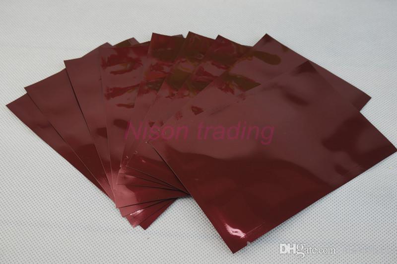 12x18cm sigillatura a caldo imballaggio pouch-/ vino rosso foglio di alluminio semplice sacchetto, bustina di stoccaggio di plastica mylar alluminizzato, sacco rosso violaceo